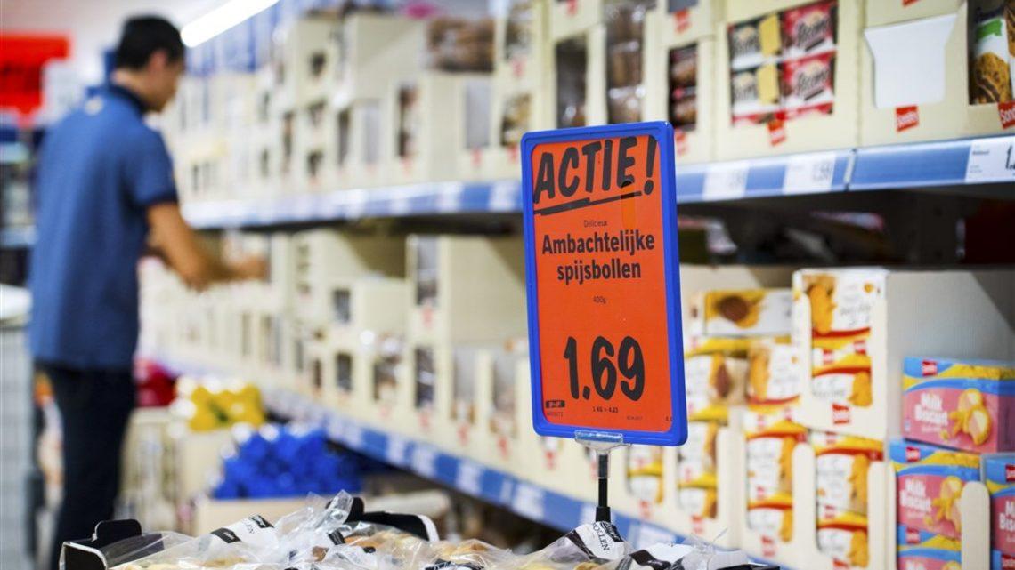 ongezond voedsel in supermarkt